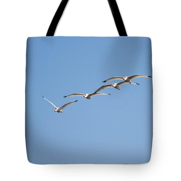 Tote Bag featuring the photograph Flying Formation by John M Bailey