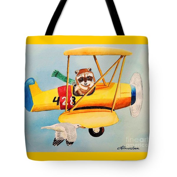 Tote Bag featuring the painting Flying Friends by LeAnne Sowa