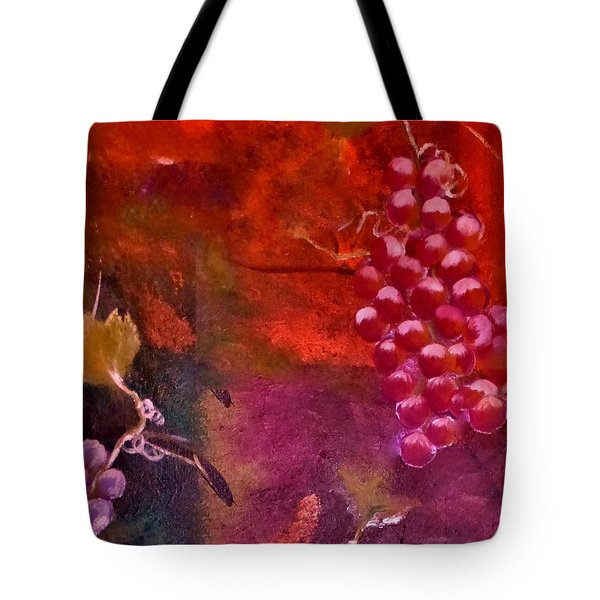 Flying Grapes Tote Bag