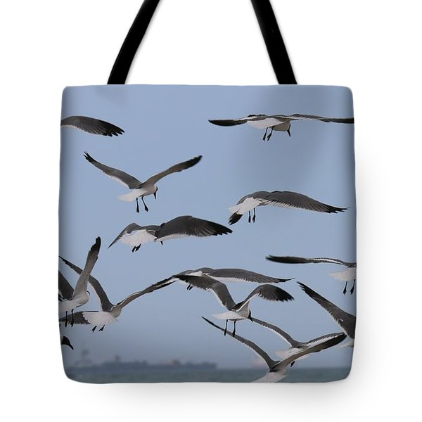 Flying Gulls  Tote Bag