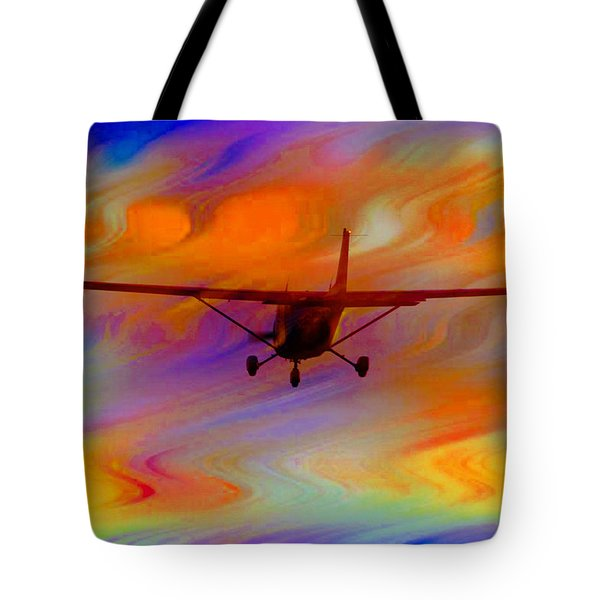 Flying Into A Rainbow Tote Bag