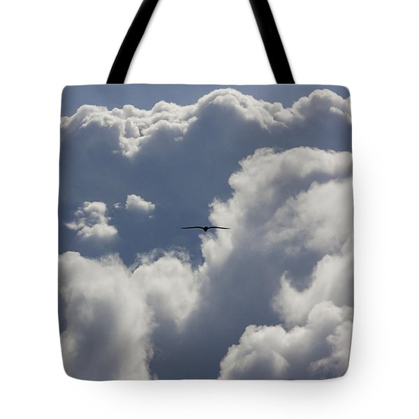 Flying Into The Storm Tote Bag