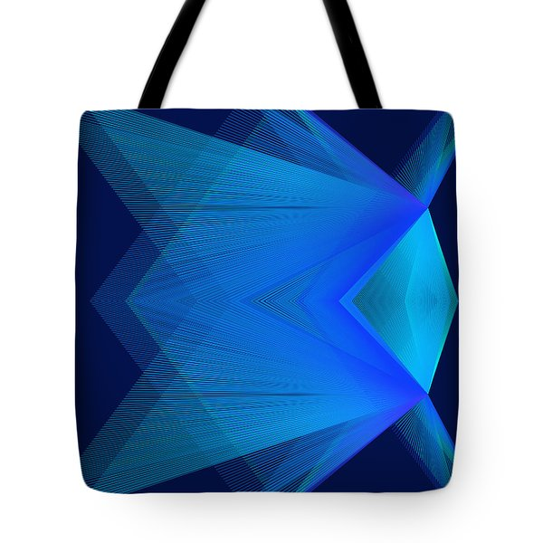 Tote Bag featuring the digital art Flying by Karo Evans