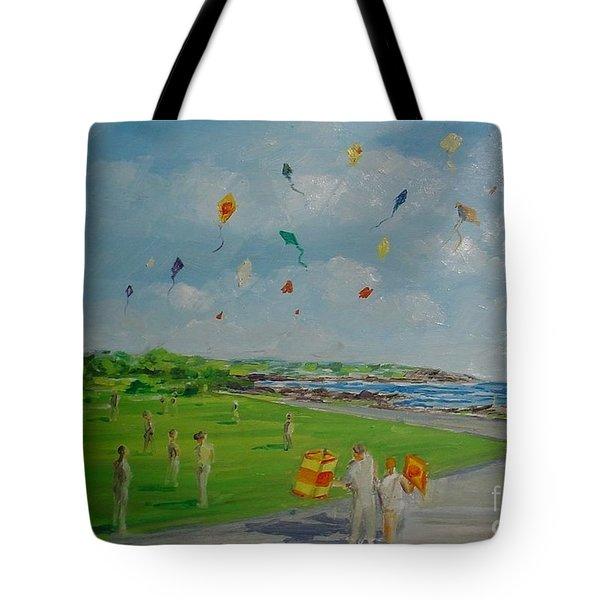 Flying Kites Newport Ri Tote Bag