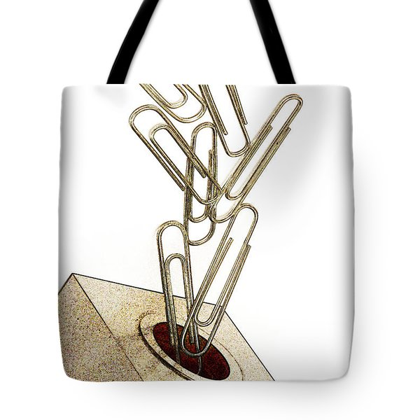 Flying Paperclips Tote Bag
