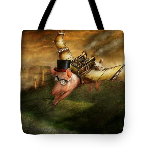Flying Pig - Steampunk - The Flying Swine Tote Bag