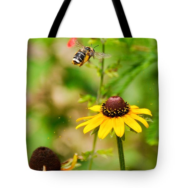 Flying Pollen Tote Bag