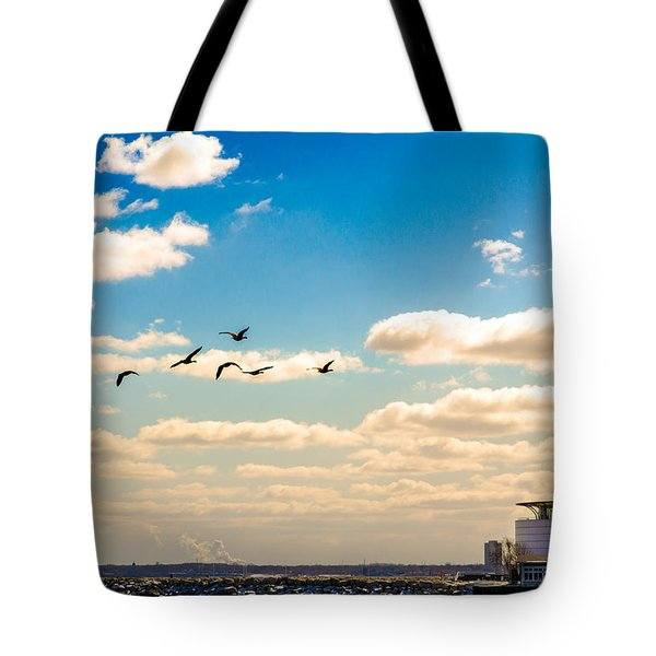 Flying To Discovery Tote Bag