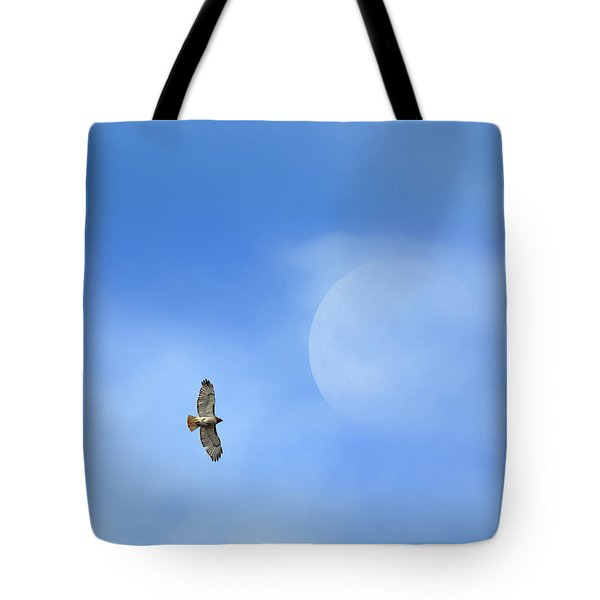 Flying To The Moon Tote Bag by Bill Wakeley