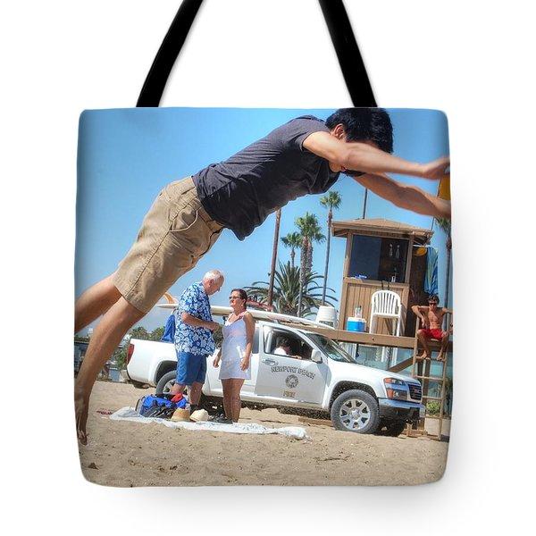 Flying Tourist Tote Bag