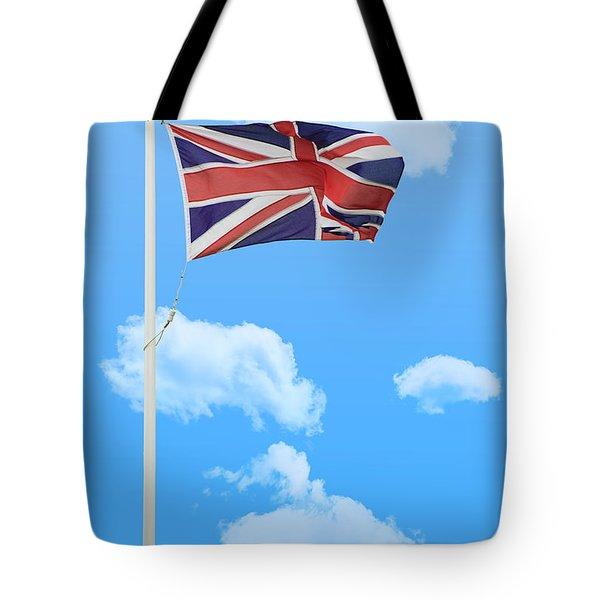 Flying Union Jack Tote Bag by Amanda Elwell