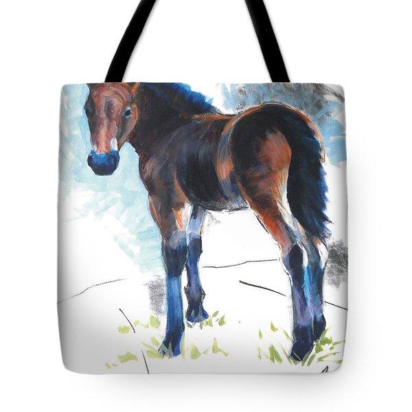 Foal Painting Tote Bag