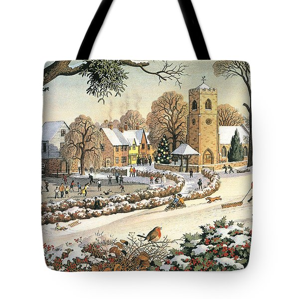 Focus On Christmas Time Tote Bag by Ronald Lampitt