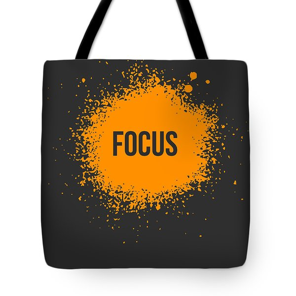 Focus Splatter Poster 3 Tote Bag