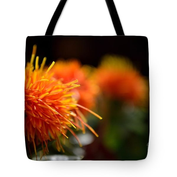 Focused Safflower Tote Bag by Scott Lyons