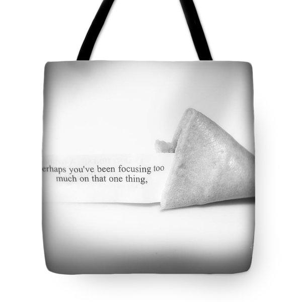 Focusing Tote Bag by Janice Rae Pariza