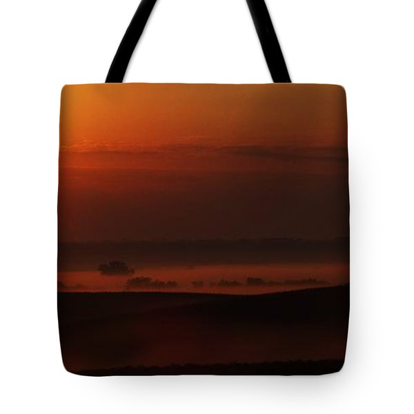 Fog At Sunrise Tote Bag by J L Zarek