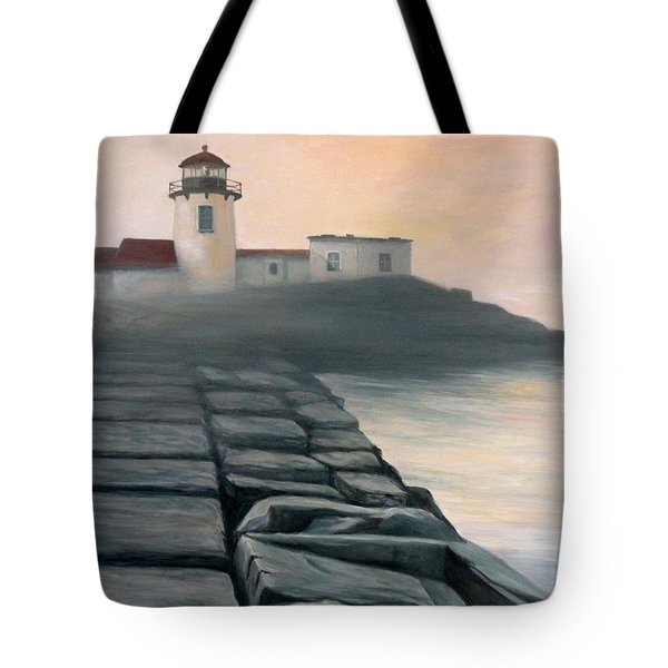 Fog Burning Off Tote Bag