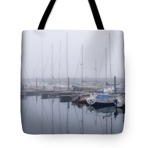 Fog In Marina I Tote Bag