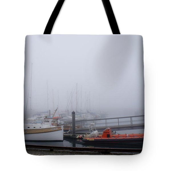 Fog In Marina IIi Tote Bag