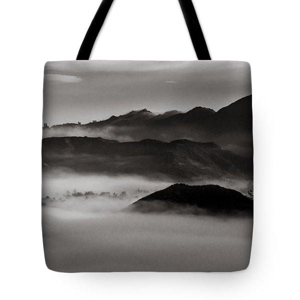 Fog In The Malibu Hills Tote Bag