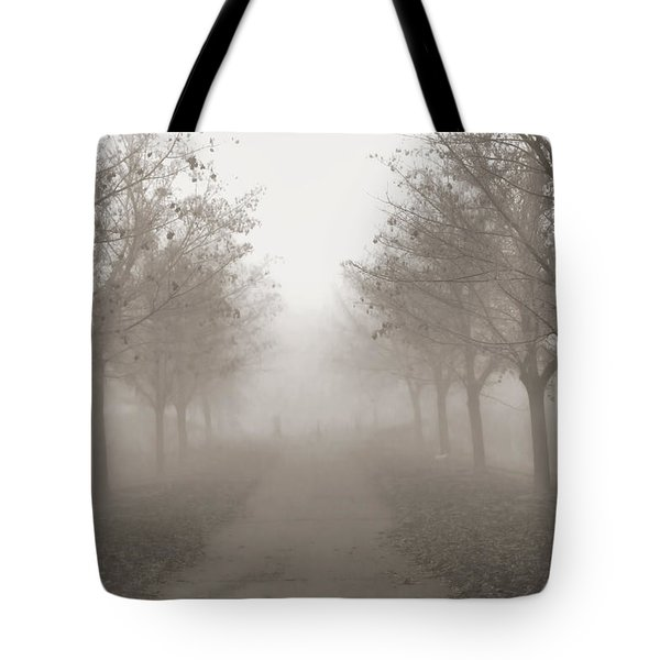 Fog Monochrome Tote Bag