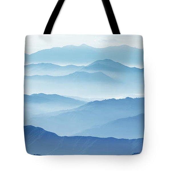 Fog Mountains Nagano Japan Tote Bag