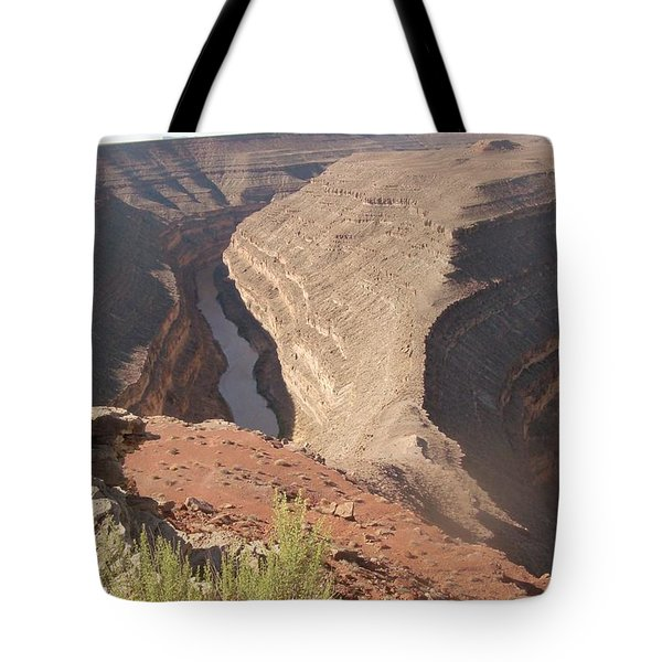 Tote Bag featuring the photograph Fog Over Gooseneck Park  by Fortunate Findings Shirley Dickerson
