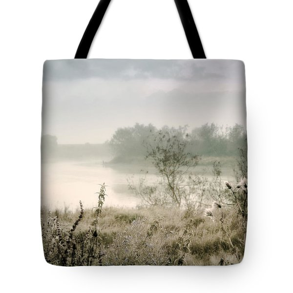 Fog Over The River. Stirling. Scotland Tote Bag by Jenny Rainbow