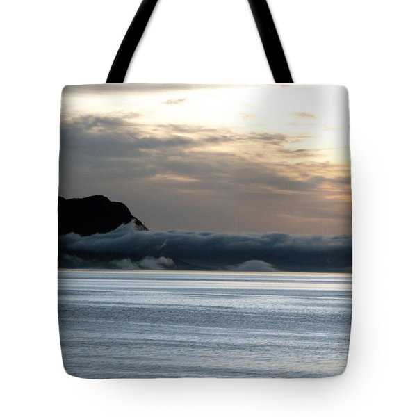 Tote Bag featuring the photograph Fog Roll Sunset by Jennifer Wheatley Wolf