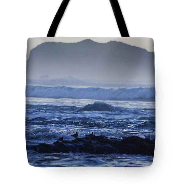 Fog Rolling In Tote Bag by Adria Trail