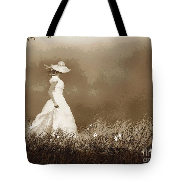 Fog Walk Tote Bag by Robert Foster
