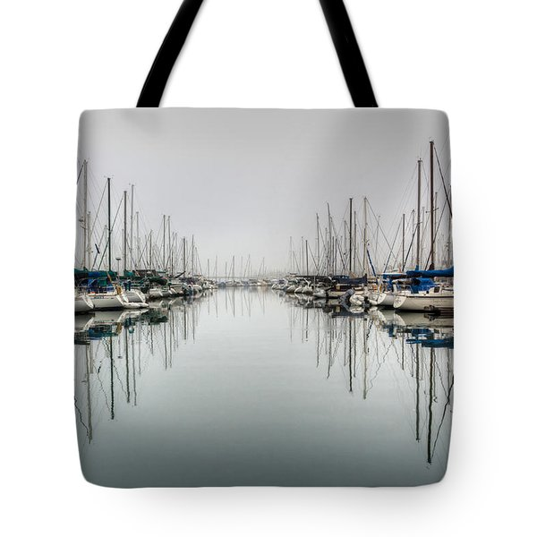Tote Bag featuring the photograph Foggy Autumn Morning  by Heidi Smith
