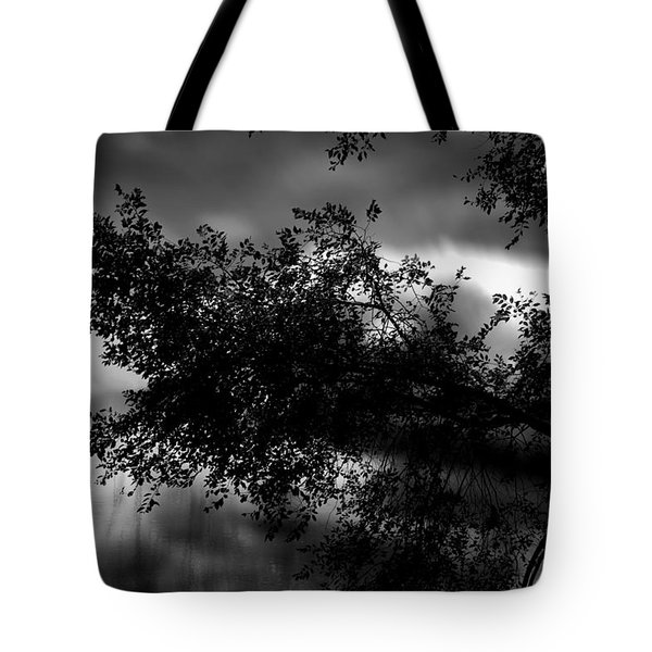 Foggy Autumn Morning On The River Tote Bag