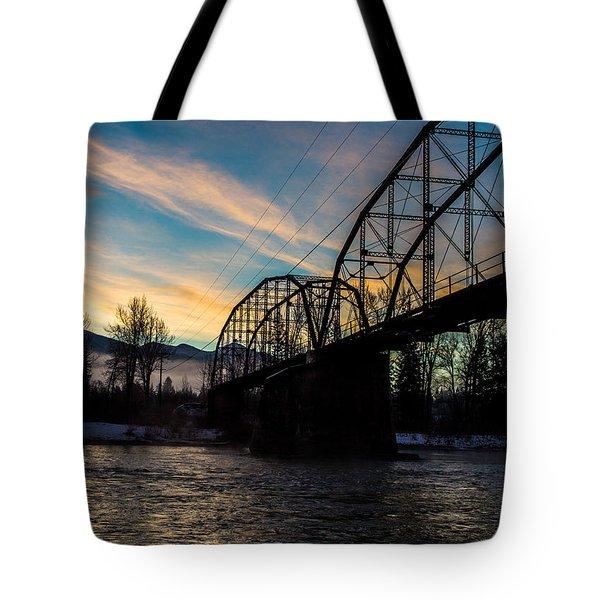Foggy Bottom Bridge Tote Bag