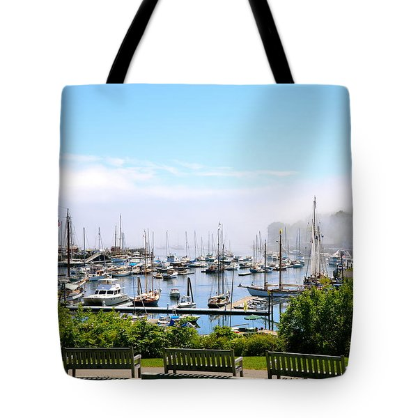Foggy Camden Tote Bag by Corinne Rhode