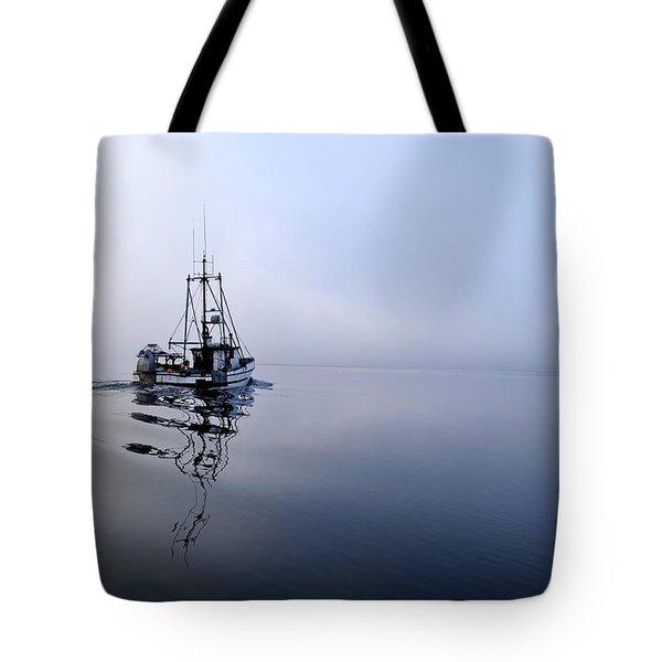 Foggy Tote Bag by Cathy Mahnke