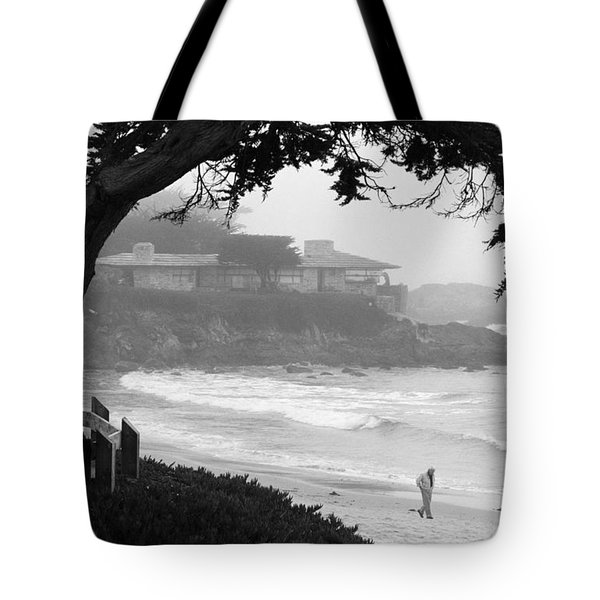 Foggy Day On Carmel Beach Tote Bag