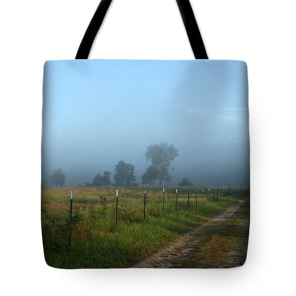 Foggy Field Tote Bag