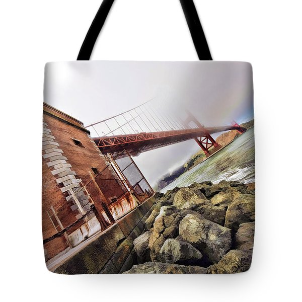 Foggy Gates Tote Bag