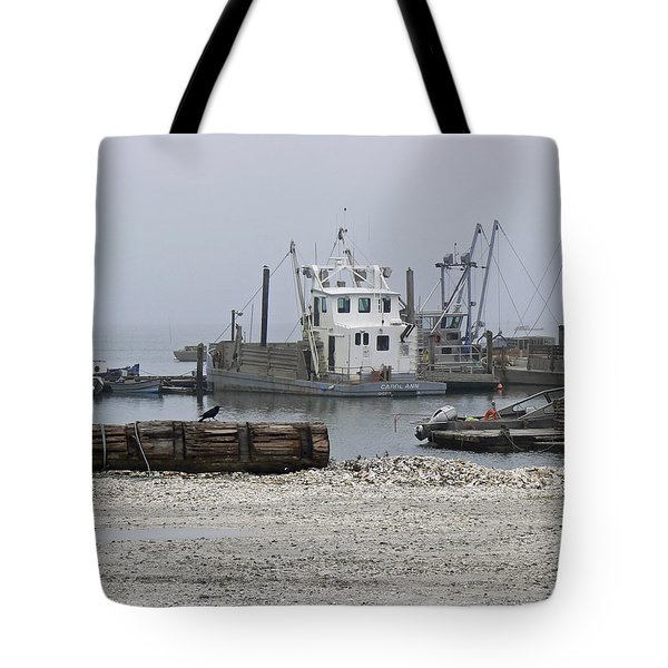 Foggy Harbor Tote Bag by Pamela Patch