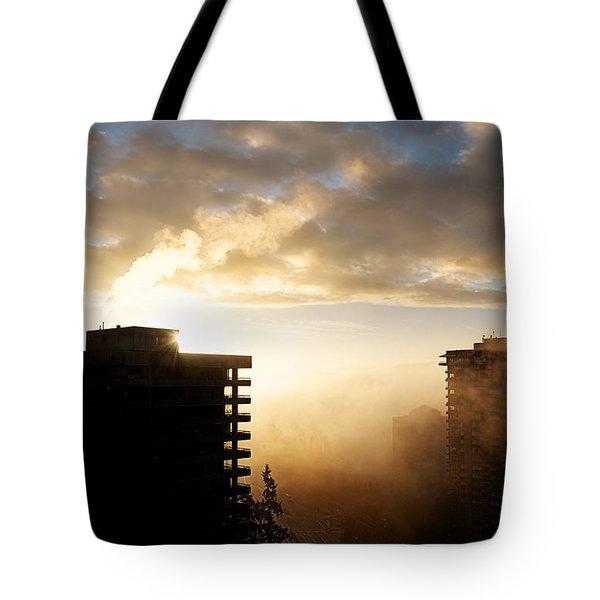 Foggy Morn Tote Bag by Lisa Knechtel