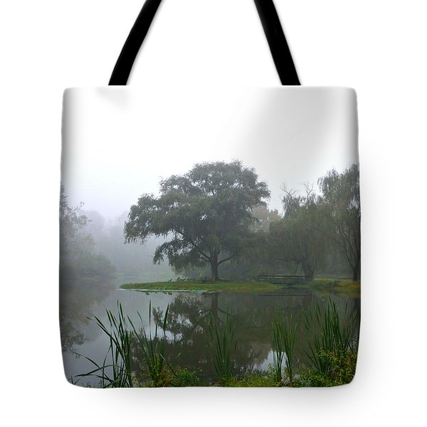 Foggy Morning At The Willows Tote Bag