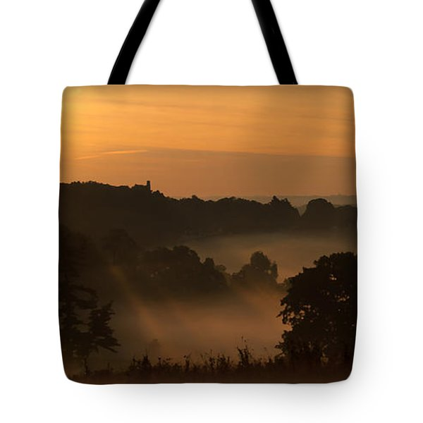 Foggy Morning At Valley Forge Tote Bag