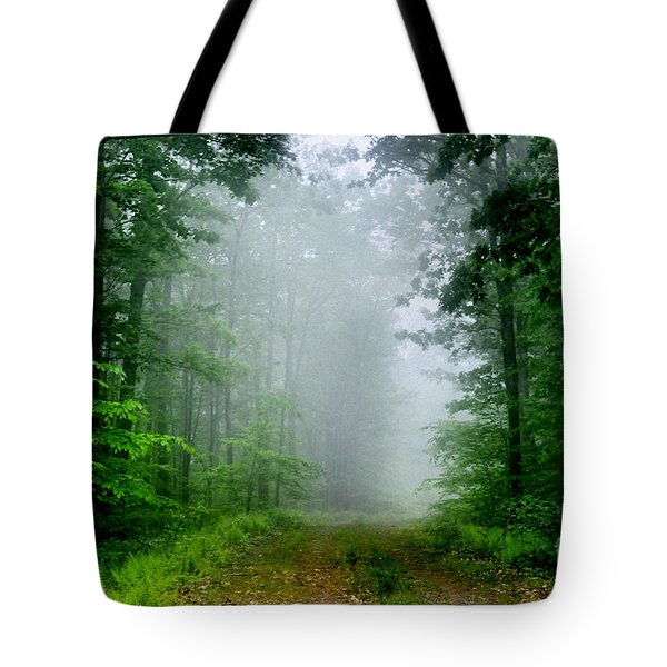 Tote Bag featuring the photograph Foggy Morning by Debra Fedchin