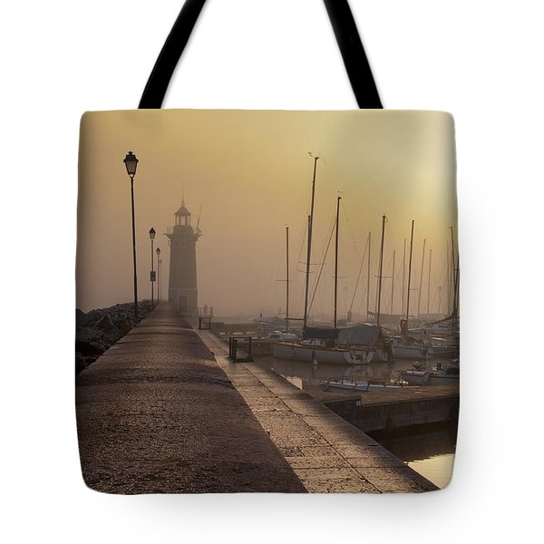 Foggy Morning Tote Bag by Simona Ghidini
