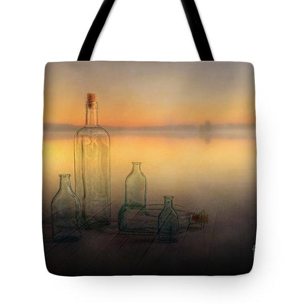 Foggy Morning Tote Bag by Veikko Suikkanen