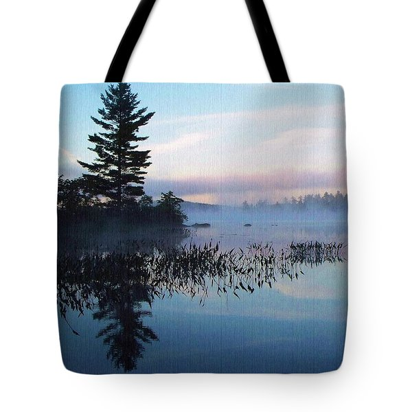 Foggy Morning's Chill -- On Parker Pond Tote Bag