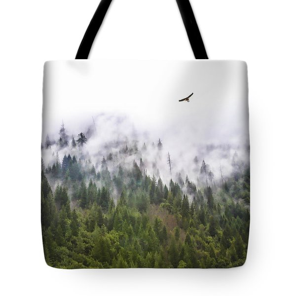 Foggy Mountain Tote Bag