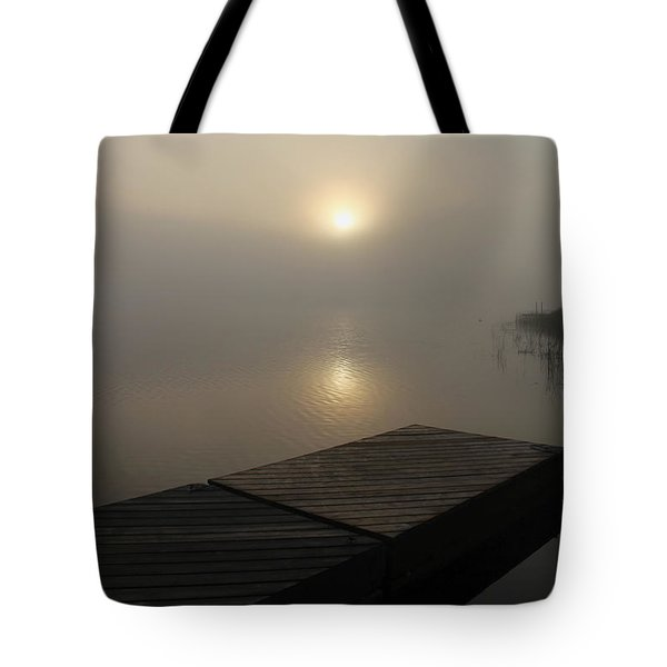 Foggy Reflections Tote Bag